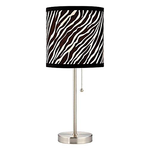 Pull-Chain Table Lamp with Zebra Drum (Zebra Chain)