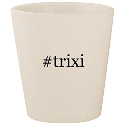 (#trixi - White Hashtag Ceramic 1.5oz Shot Glass)