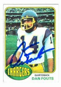 Dan Fouts Autographed Football - Card 1976 Topps #128 - Autographed Football Cards