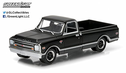 1968 Chevrolet C10 (1968 Chevrolet C-10 * Black Bandit Collection * Series 11 Greenlight Collectibles 2014 Limited Edition 1:64 Scale Die-Cast)