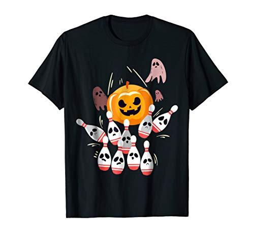 Funny ghost bowl bowling pins, halloween pumpkin shirt]()