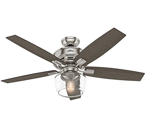 Hunter Fan Company 54188 Bennett Ceiling Fan, Large, Brushed Nickel by Hunter Fan Company