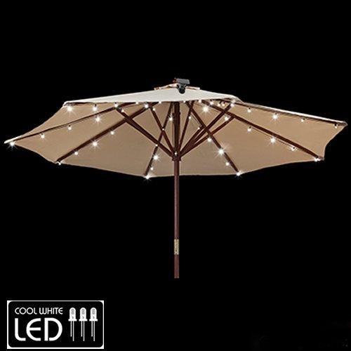 Gemmy patio umbrella solar led lights amazon aloadofball Image collections