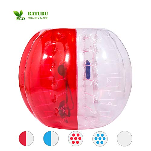 BATURU Inflatable Bumper Bubble Soccer Ball, Knocker Ball for Adults & Teens, Body Bumper 5 FT/1.5 M, Human Hamster Ball w/Repair kit -