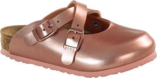 Birkenstock Kids Dorian Clog Soft Metallic Rose Birko-Flor Size 29 N EU / 11-11.5 N US Little Kid ()