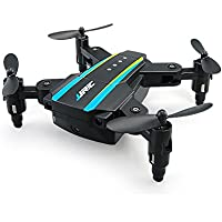 MKLOT 2x Mini RC Drones, Remote Control Quadcopters Dual-Aircraft Combination AR Game Micro 2.4Hz Foldable Drone Set with 4 Backup Propellers, by White & Black