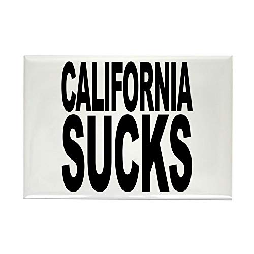 CafePress California Sucks Rectangle Magnet, 2