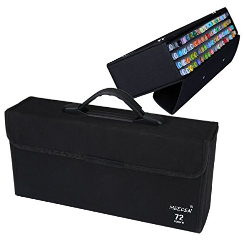 MEEDEN 72 Piece Markers Carrying Case Empty Holder for Copic Prismacolor Touch Spectrum Noir Paint ()