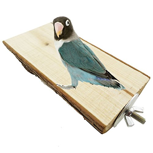 (Wood Shelf Perch Toy for Pet Bird Parrot Macaw African Greys Budgies Parakeet Conure Hamster Gerbil Rat Squirrel Cage Stands Toy)