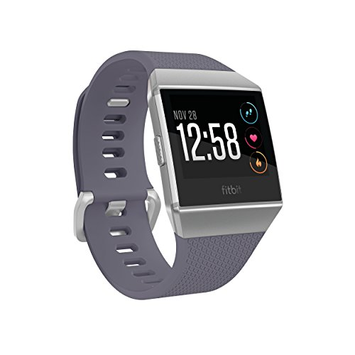 Fitbit Ionic Smartwatch Blue-GraySilver One Size (S & L Bands Included)