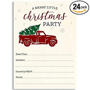 Amazon Com Christmas Party Invite A Merry Little Christmas Party