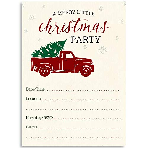 Christmas Party Invite, A Merry Little Christmas Party,