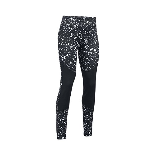 Legging Girls Coldgear (Under Armour Girls' ColdGear Novelty Leggings,Black (001)/White, Youth Medium)