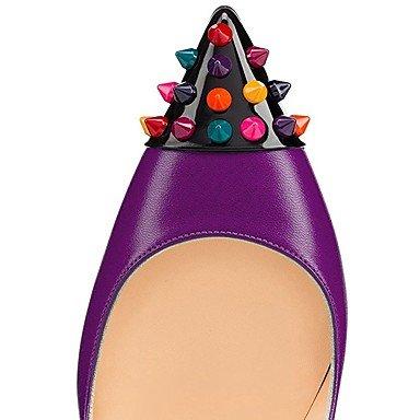 Lvyuan Pu La Mujeres Del Club Caída Ggx Las Noche Partido De amp; Purple Verano nbsp;vestido Comodidad Ocasional Dedo Remache Talones Zapatos rPrgB