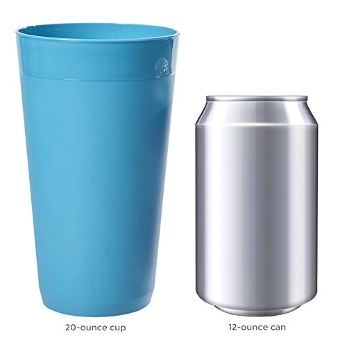 US Acrylic Newport 20-ounce Unbreakable Plastic Tumblers   set of 12 in 4 Coastal Colors by US Acrylic (Image #4)