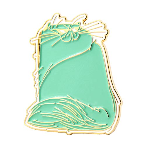 GS-JJ Cute Cat Enamel Lapel Pin (Mint Green)