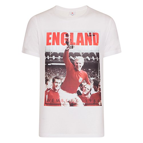 England Soccer Gift Bobby Moore 1966 World Cup Winners Mens T-Shirt Small Red