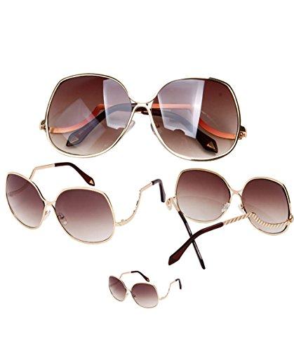 5 de objetivo Gafas gafas gafas 5 de sol personalidad sol gafas sol marco gran protección LYM polarizadas gran X9 de reflectantes de gafas 1xTZ4wvZq