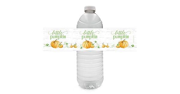 Amazon.com: Little Pumpkin - Etiquetas para botella de agua ...