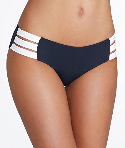 Seafolly-Womens-Blockparty-Multi-Strap-Hipster-Medium-Coverage-Bikini-Bottom-Swimsuit