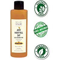 Khadi Mauri Herbal Anti Hairfall Shampoo 210 ml - SLES & PARABEN FREE - Prevents Hair Fall & Strengthens Hair Follicles - Enriched with Amla, 210 ml