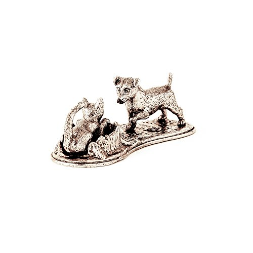 Jack Russell Terier and Cat Made in UK Artistic Style Dog Figurine Collection