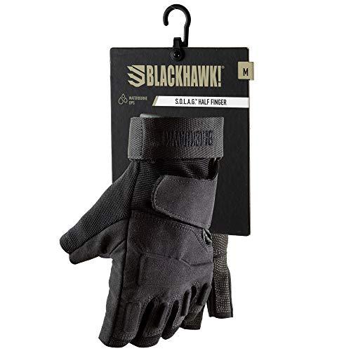 BLACKHAWK! Men's Black S.O.L.A.G. Special Ops 1/2 Finger Light Assault Glove (Black, XX-Large)