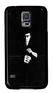 S5 Case, Galaxy S5 Case, Samsung Galaxy S5 Case - Hard PC Protective Bruce Lee Creativity Case Black Cover Heavy Duty Protection Shock-Absorption / Impact Resistant Slim Case for Galaxy S5 / Galaxy SV / Galaxy S V / Galaxy i9600
