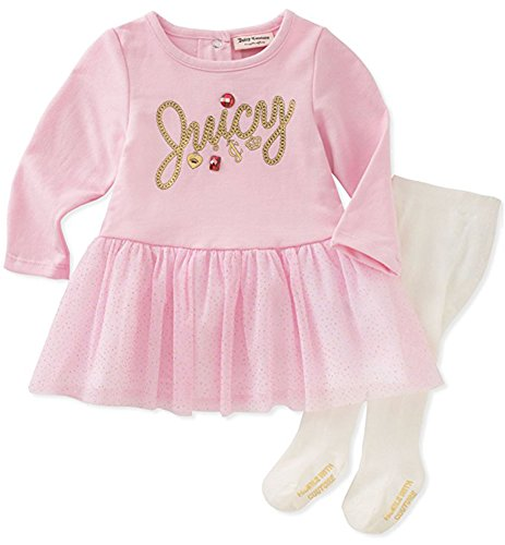 Juicy Couture Little Girls' Toddler Dress and Tight Set, Pink 4T
