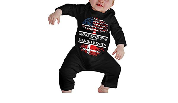 UGFGF-S3 American Heart Irish Flag Roots Baby Girl Long Sleeve Romper Jumpsuit Baby Clothes