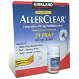Kirkland   AllerClear Loratadine 10 mg Antihistamine Tablets, 300-Count Bottle