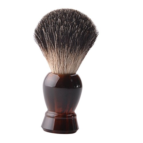 CSB Black Badger Hair Shaving Brush with Faux Tortoise shell Handle Beard Shave Brush