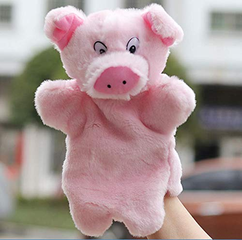 Astra Gourmet Pig Glove Puppet Animal Hand Puppet Role-Play Toy Puppets for Kids Plush Toys Storytelling Game Props (Pig)]()