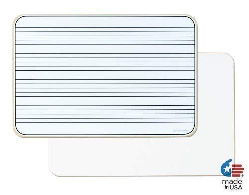 Music Staff Lines - OptiMA Double Sided 12x18 Music Staff Dry Erase Lap Board. Made in the USA!