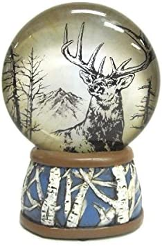 WonderMolly North American Wildlife Mule Deer Light-Up Slim Snow Globe