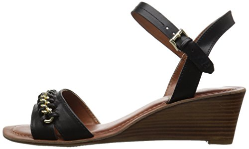 Black Hilfiger Sandal Women's Mojito Wedge Tommy XfaRgR