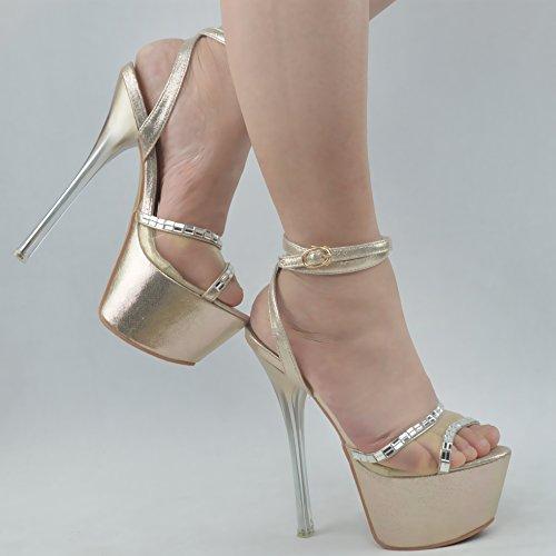 spillo 16cm belle golden jacobs trentotto primavera super a benda impermeabile sexy tacchi luce scarpe e trapano la la con GTVERNH l'estate delle moda 8xag0xw