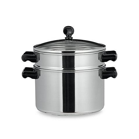 Farberware Classic Series II Stainless Steel Stack & Steam 3-Quart Sauce Pot and Steamer (Farberware Stack)