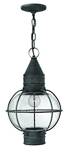 Hinkley 2202DZ Nautical One Light Hanging Lantern from Cape Cod Collection in Bronze/Darkfinish, ()