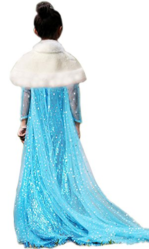 Christmas Costume, Christmas Elsa Costume, Elsa Dress, Snow Queen Dress, Christmas Princess Dress, (Crown and White Cape Are excluded) (150)