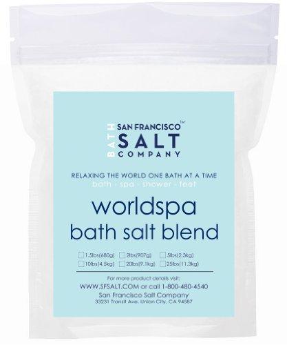 Worldspa Bath Salts - 20 Lb - A Blend of Pacific Sea Salt, Dead Sea Salt & European Sea Salt (Dead Sea Salt 20 Lbs compare prices)