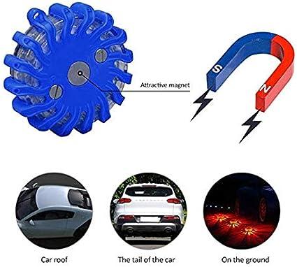 Azul, 3 Rojo//Azul//Amarillo Paquete de LED de Advertencia LED Recargable Luz de Emergencia del Coche LED Emergency Light DEYU Luces de Advertencia LED,LED Road Flare Light