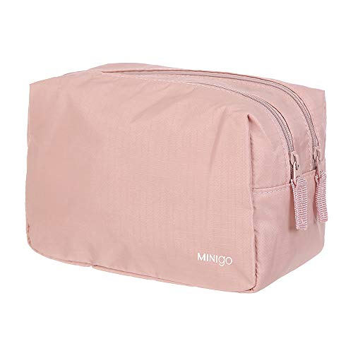 MINISO Minigo Waterproof Travelling Cosmetic Make-up Storage Bag 2 Layer, Portable Makeup Pouch Travel Organizer Bag…