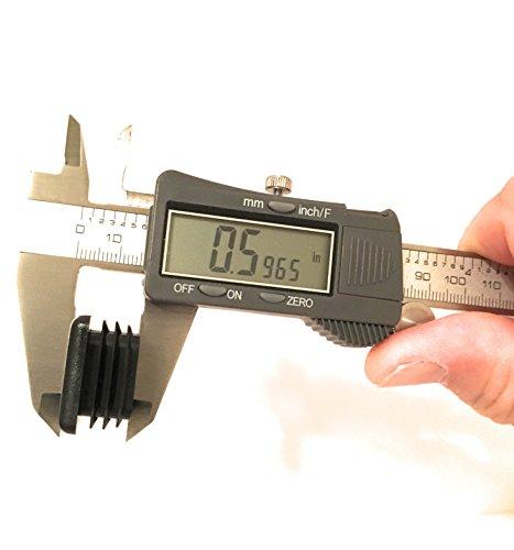 (100 Pack) (14-20 GA) Square Plastic Polyethylene Plug 1''x 1'' by Brewdogsupplies (Image #2)