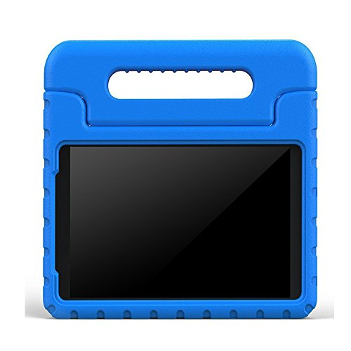 BMOUO Samsung Galaxy Tab 3 Lite 7.0 inch Kids Case - Shock Proof Case Light Weight Super Protection Cover Handle Stand Case for Children for Galaxy Tab 3 Lite 7-Inch Tablet - Blue (Not for Tab 3 7.0) (Galaxy Tab 3 Case Handle)