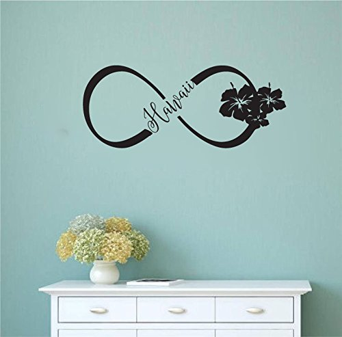 Amazon Hawaii Hibiscus Infinity Sign Symbol Vinyl Wall Words