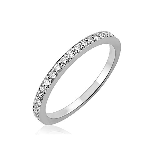 IGI Certified 14k White Gold Wedding Diamond Band Ring (1/4 Carat) (Diamond Wedding Rings White Gold)