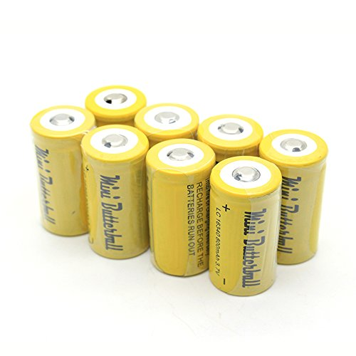 Mini Butterball 8pcs 800mah 3.7V 16340 Li-ion Rechargeable Battery, Cr123a Battery High Performance for Flashlight Torch Camera Electrical Toy