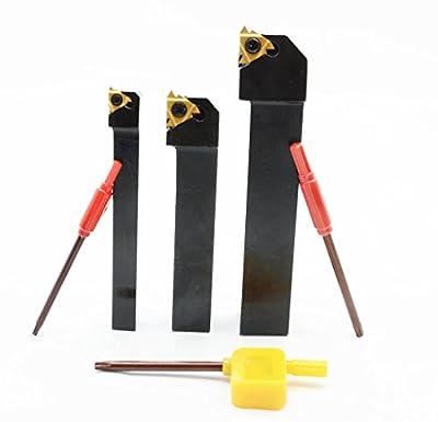 SER1616H16 + SER2020K16 + SER1010H11 CNC Lathe Carbide Indexable Threading Turning Tool Holder With 1PCS 11ER A60 BP010 + 2PCS 16ER AG60 BP010 Indexable Carbide Turning Insert blade + 3 Wrench