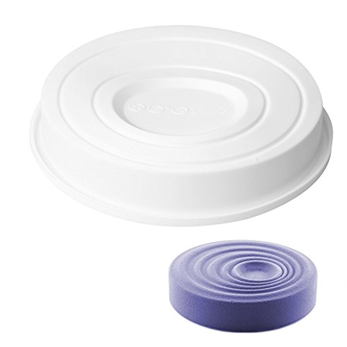 New Arrival Round Ripples White Silicone Cake Mold 3D Fondant Cake Decorating Baking Pans DIY Mousse Chocolate Chiffon Dessert (Semi Homemade Halloween Recipes)